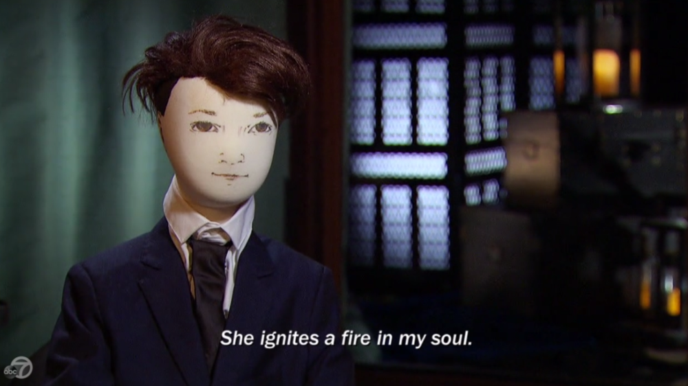 Coincidentally revealing the only way to destroy the inhuman spirit inhabiting this lifeless doll: conflagration.
