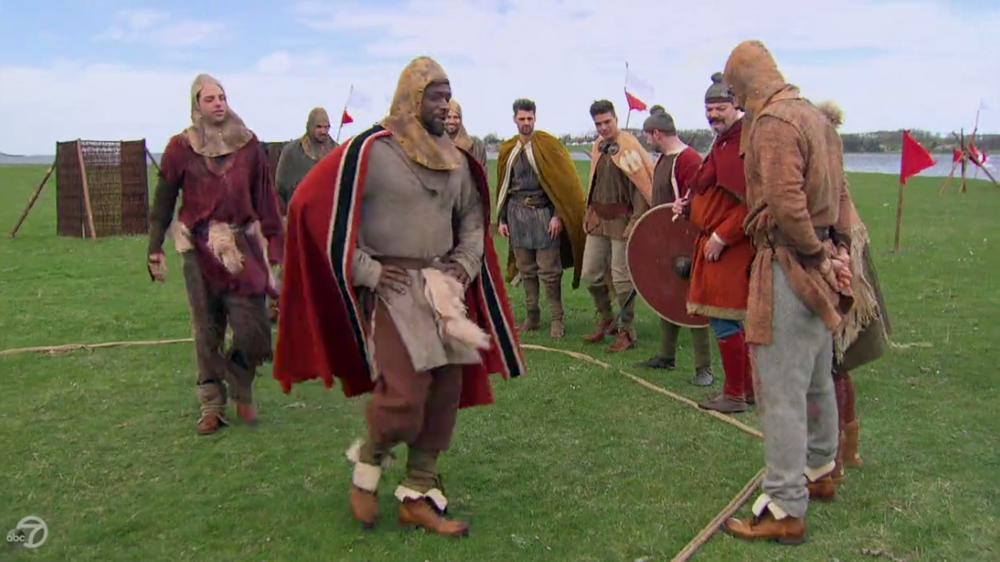 Oddly, none of their attire resembles that of Tom and Morton. I wonder if ABC vetted their Viking credentials...
