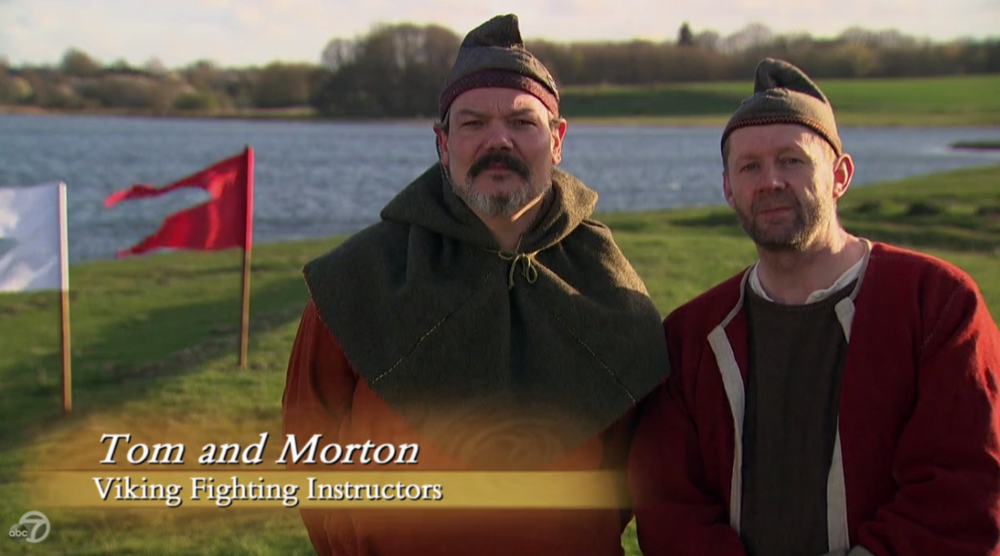"""I don't know if """"intimidating"""" is the right word, but they're definitely awe-inspiring. You do you, Viking Fighting Instructors."""