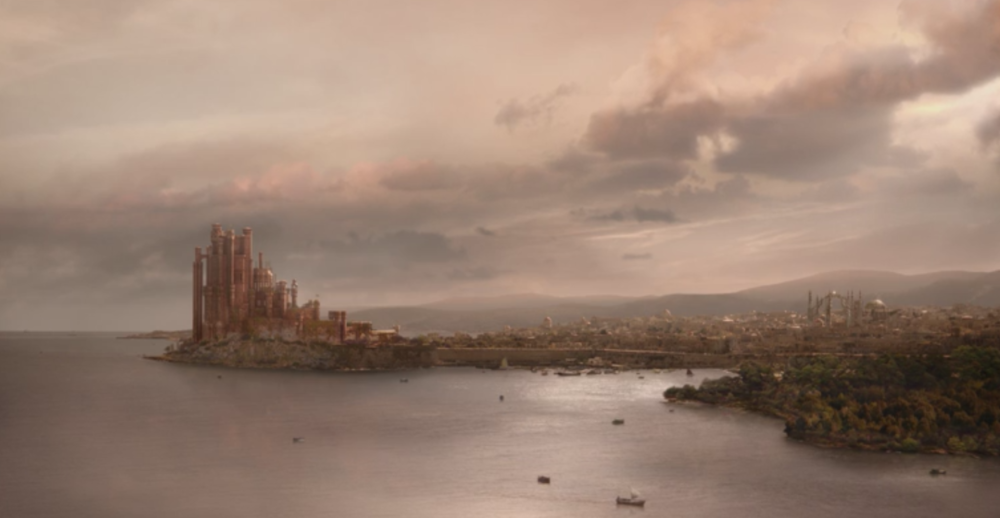 King's Landing at the mouth of the Blackwater during the reign of King Robert Baratheon in  Winter is Coming  (S1E1)