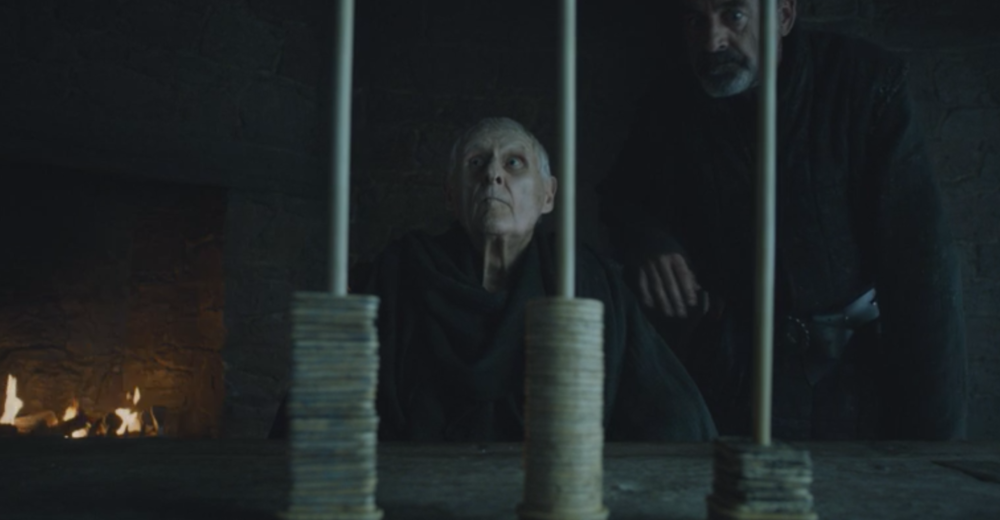 Maester Aemon voting in   The House of Black and White (S5E2)