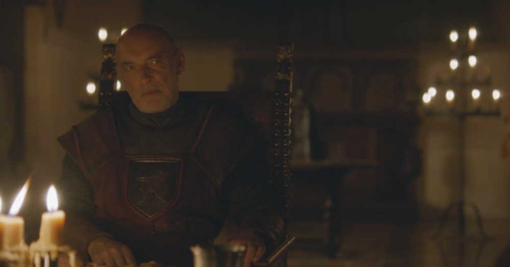 Lord Randyll Tarly in his castle at Horn Hill in   Blood of My Blood  (S6E6)