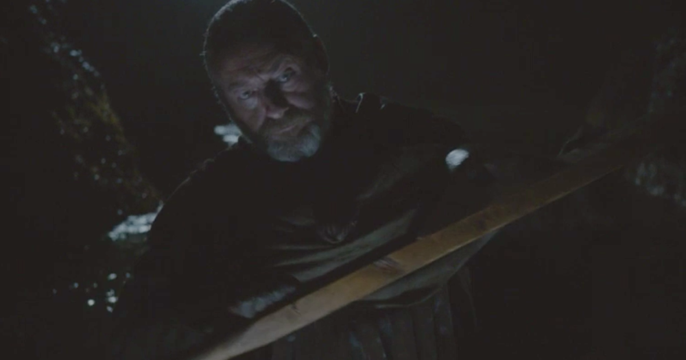 Ser Davos Seaworth rowing near Storm's End in  Garden of Bones  (S2E4)