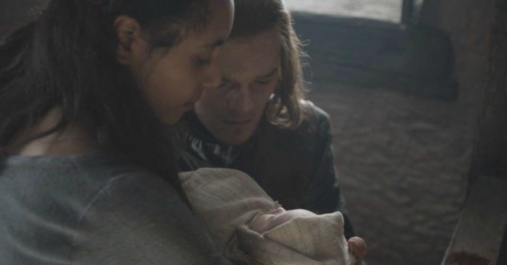 A young Ned Stark receiving his nephew at the side of Lyanna's bed in the Tower of Joy in The Winds of Winter (S6E10)