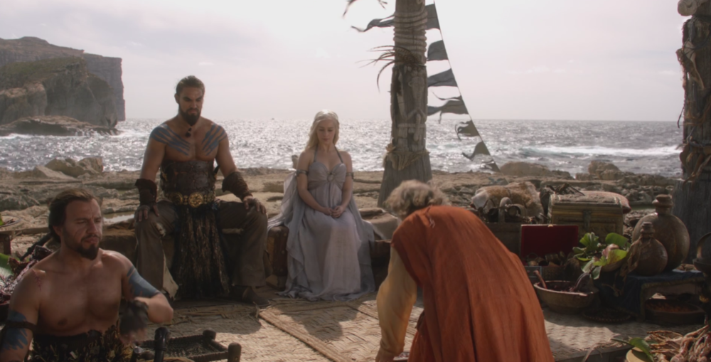 Daenerys Targaryen married Khal Drogo in  Winter is Coming  (S1E1)