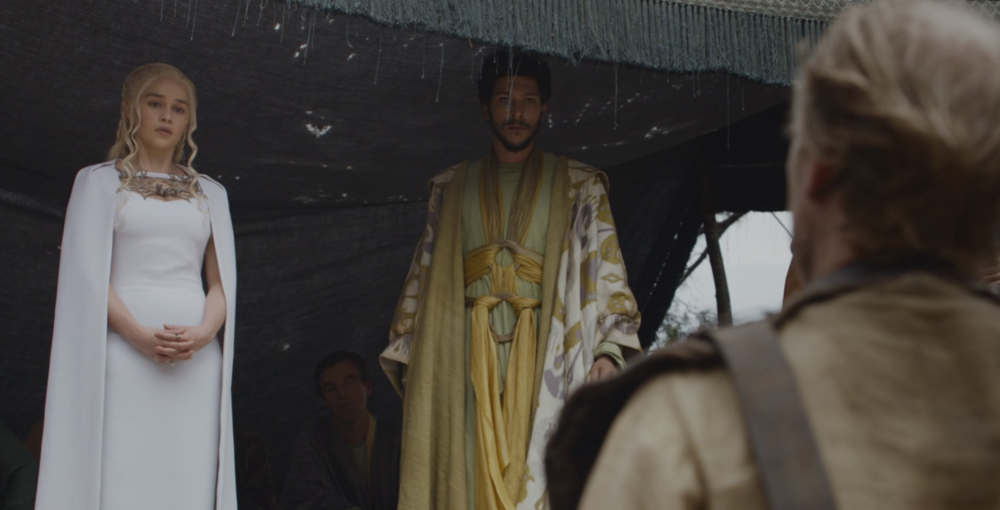 Dany and her most recent husband Hizdahr in The Gift (S5E7)