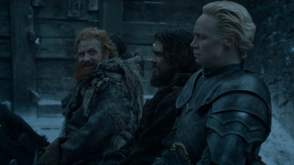 Tormund shoots those bedroom eyes at Brienne in   The Door  (S6E5)