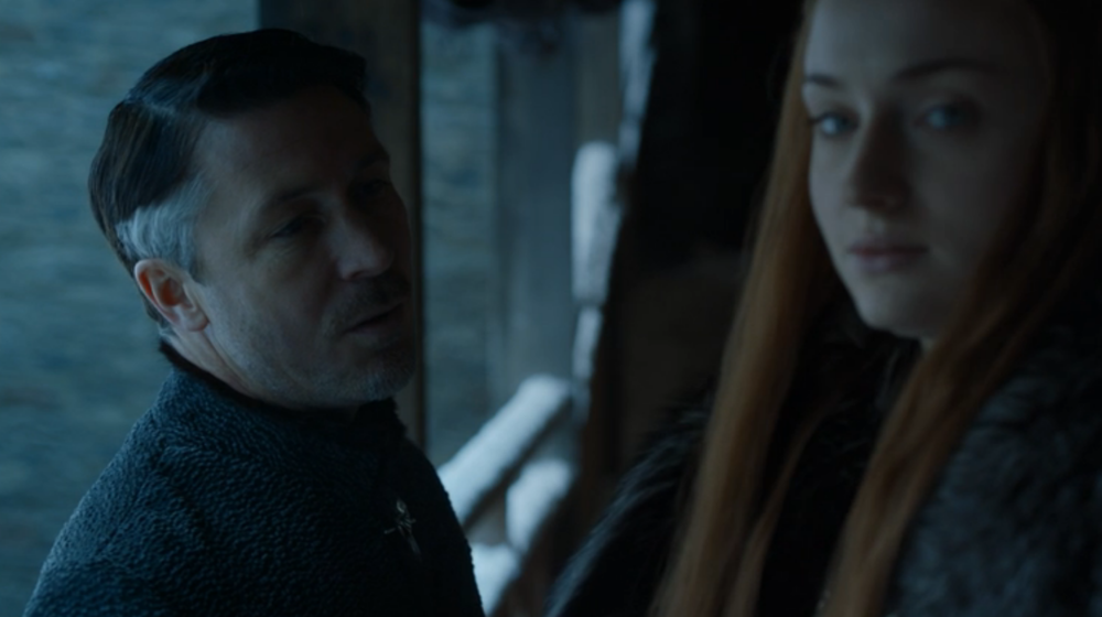 """No need to seize the last word, Lord Baelish. I'll assume it was something clever."""