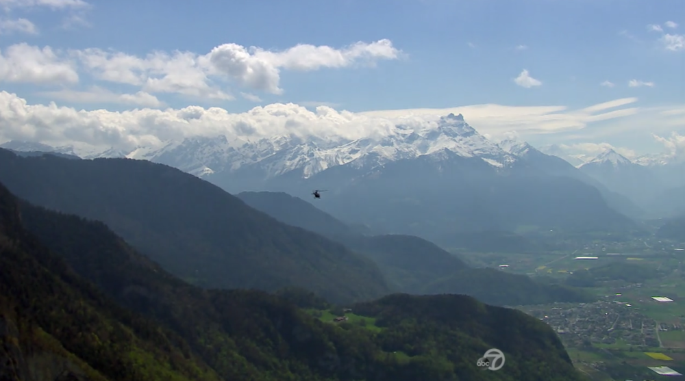 """Scenes like this help explain how total strangers can be babbling about """"love"""" in less than two months. Not too shabby, Switzerland!"""
