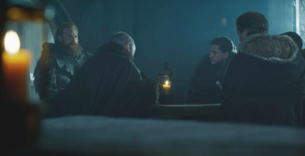 "Tormund: ""How many queens are there now?""  Jon: ""Two."""