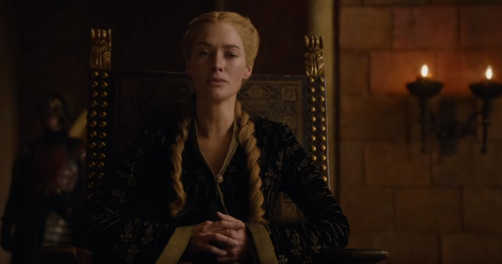 This is Cersei's look for Tyrion's trial. Yeah, she really wants him dead.