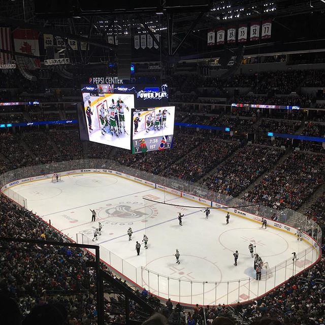 A good start but a disappointing finish. First hockey game at the Pepsi Center, let's hope the next game goes a little better!  #letsgoavalanche #goaves #denvercolorado #gamenight #hockey🏒 #bigcitylife #denverjeweler #coloradojeweler