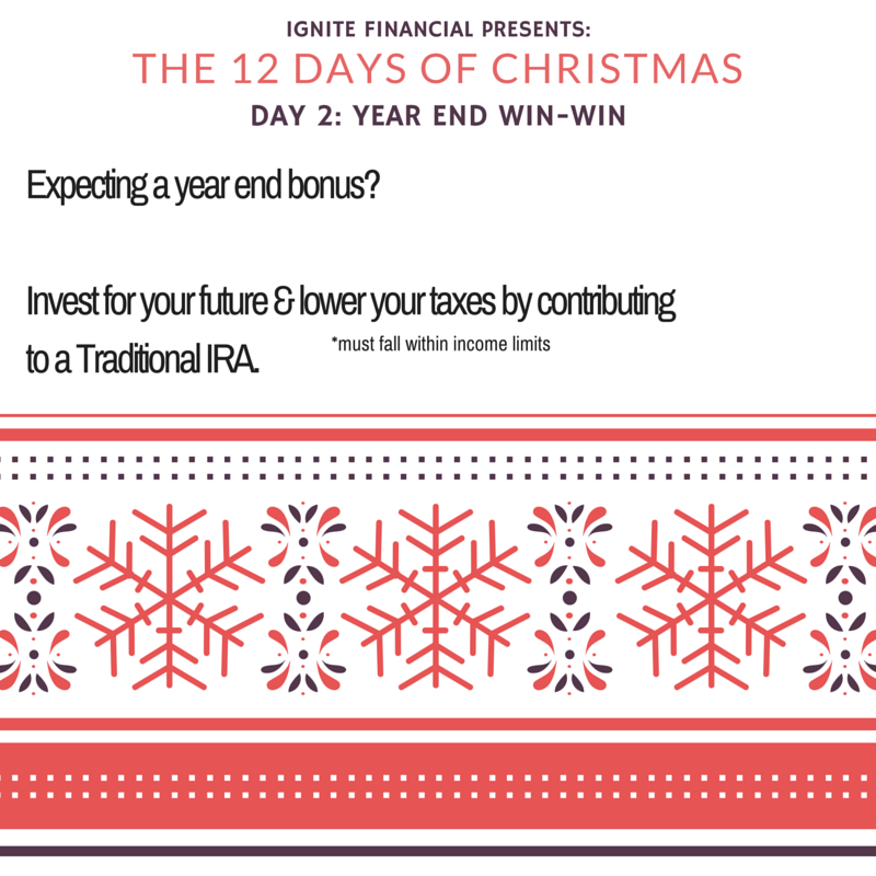 Use your year-end bonus to fund an IRA!
