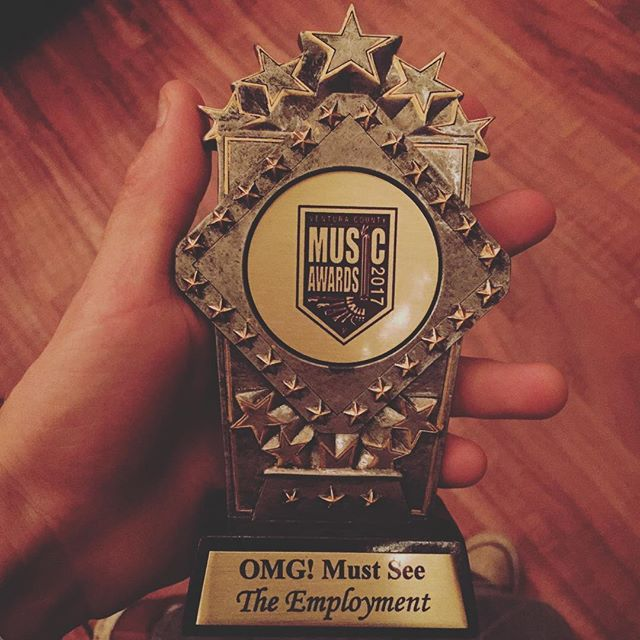 Tonight we won the 'OMG! Must See' award @levityoxnard !!! We want to thank Tim and all of the crew from Red Light District Show for putting on such an amazing event! You guys have done so much for the local music community and we can't thank you enough for that! :) #VenturaCountyMusicAwards2017  #TheEmployment #EMPL 🎶 🎶 --Bands we sound like and/or Inspired by-- #NineInchNails #Qotsa #Failure #twentyonepilots #Nirvana #BandOfSkulls #FooFighters #MGMT --Other notorious HashTags-- #Music #band #AlternativeRock #Modern #Grunge #Artist #Singer #Bass #Guitarist #Fun #Amazing #drums #Follow #Like #Musician #RockCityStudios