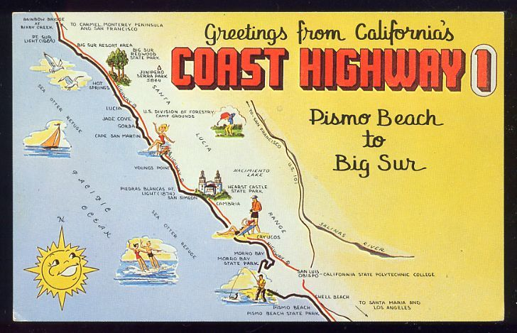 Image result for california route 1 map