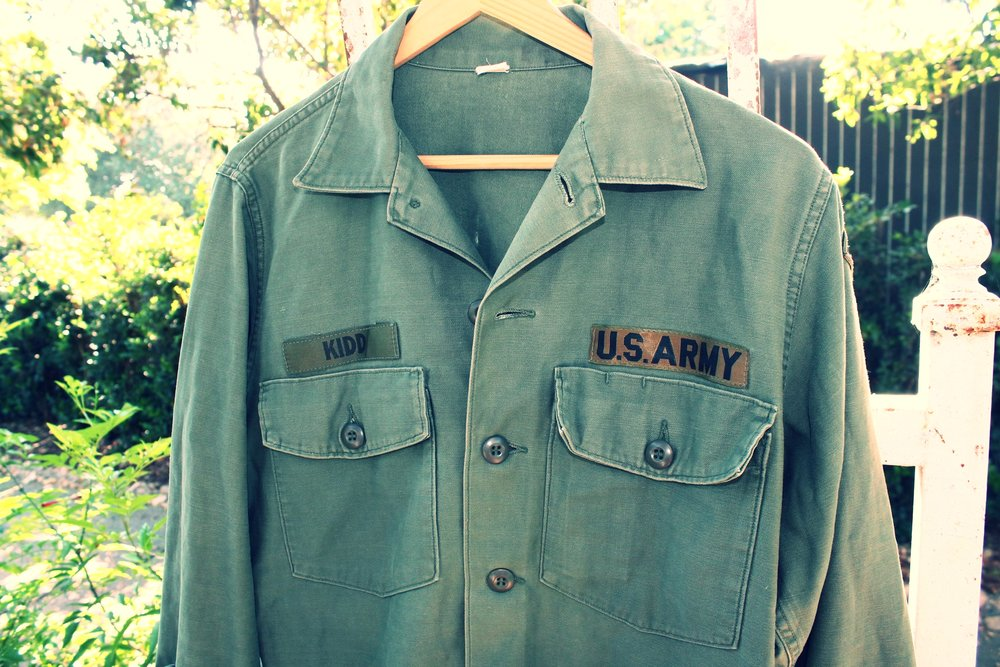 Soft and Patched Army Shirt