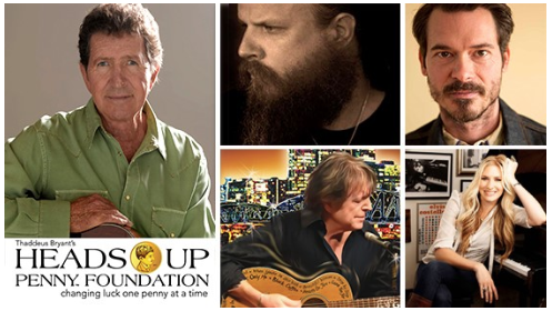 Mac Davis, Jamey Johnson, Ketch Secor, Even Stevens and Holly Williams - This inaugural event brings some of music's most acclaimed songwriters/entertainers together and is the work of the young and precocious, Tad Bryant, founder of The Heads Up Penny Foundation.
