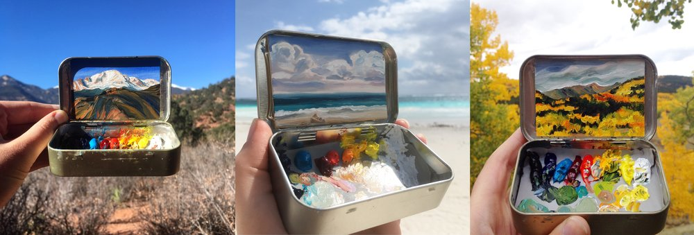 Mint Tin Plein Air Art