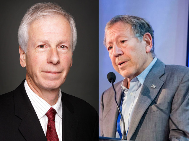 Stephane Dion, left, and Irwin Cotler, right