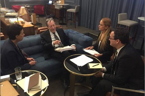 Leopoldo Lopez's international legal team meeting with Lopez's wife Lilian Tintori