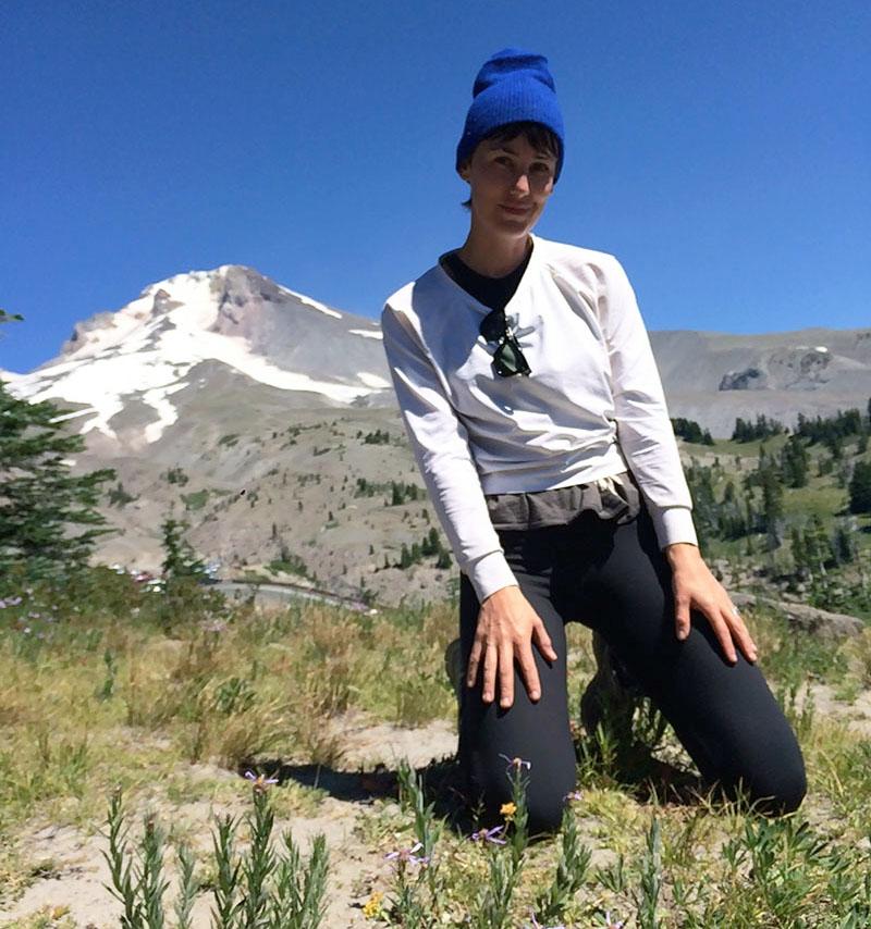 Britt at the end of her week-long solo trek