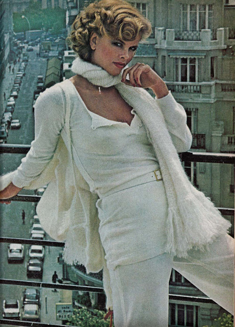 Sexy and comfy knits, Vogue (1977) photo by Helmut Newton