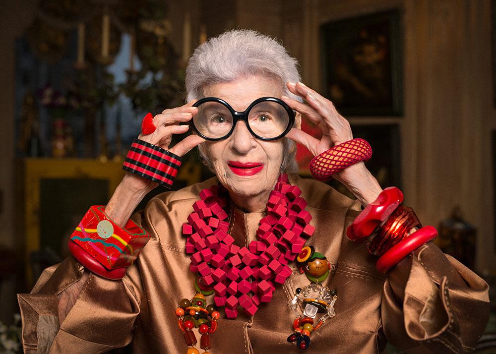 The amazing, Ms.Iris Apfel, photo by Gabriel de la Chapelle for WWD
