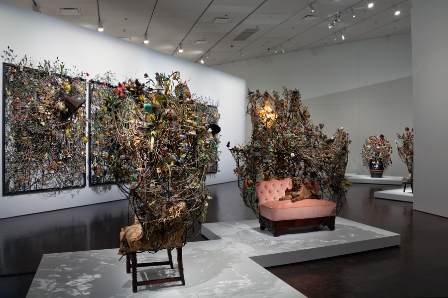 Installation view from Nick Cave's 2013 show Sojourn at the Denver Art Museum