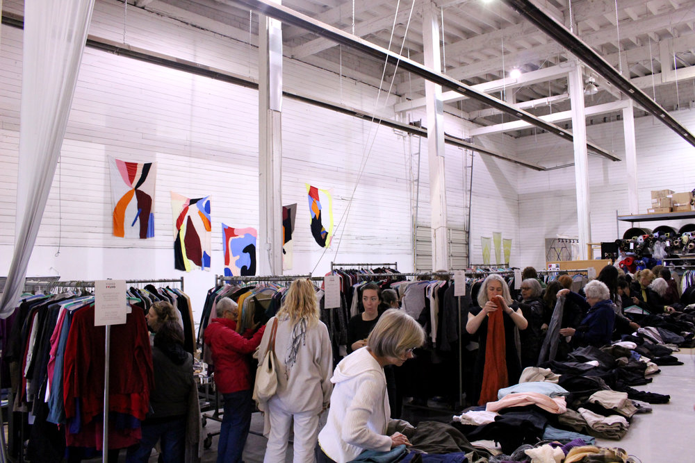 Tops, sweaters, dresses, pants...EF brought over 2000 garments to PGF!