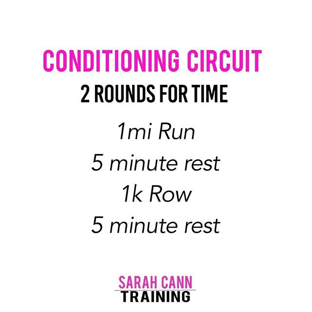 Today's conditioning circuit for the Chiseled program is a great way to test your cardio endurance.  Give it a try and tag me with your finish time! . . . #momof2 #bodyafterbaby  #crossfitmom #crossfitgirl #postpartumfitness #metaboliconditioning #girlswithmuscle #sarahcanntraining #fitmomoftwo #iifym #flexibledieting #carbcycling #ashlete #acceleratetogether
