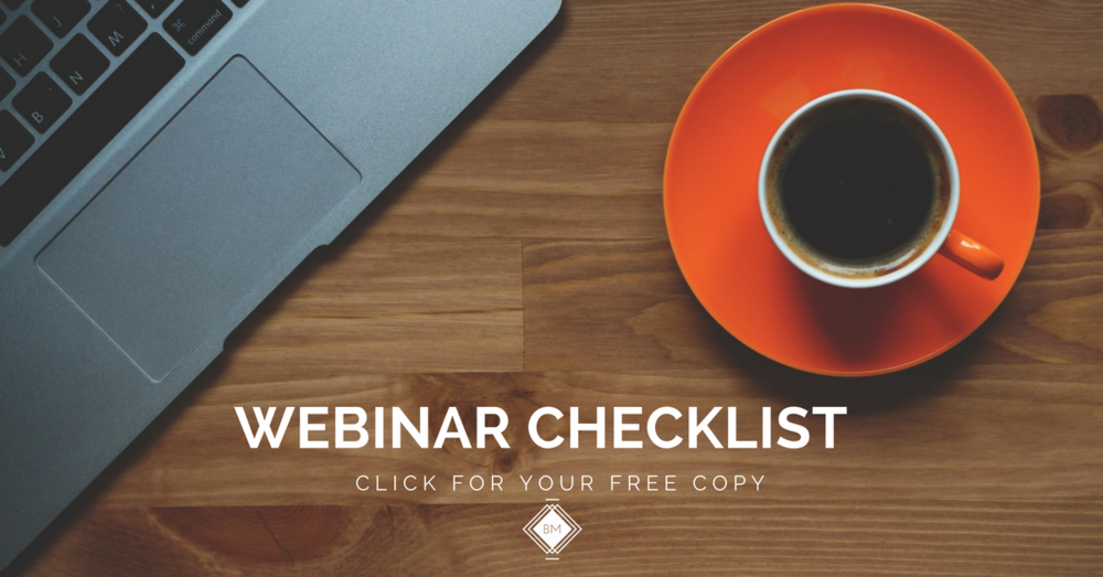 free webinar checklist to prepare for your live stream