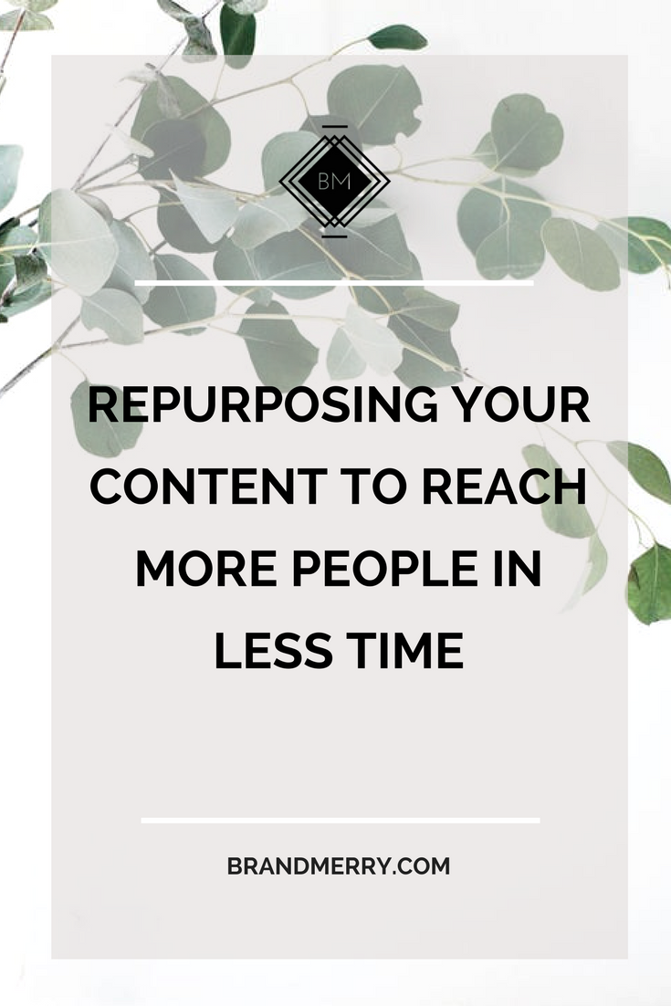 Repurposing Your Content to Reach More People in Less Time