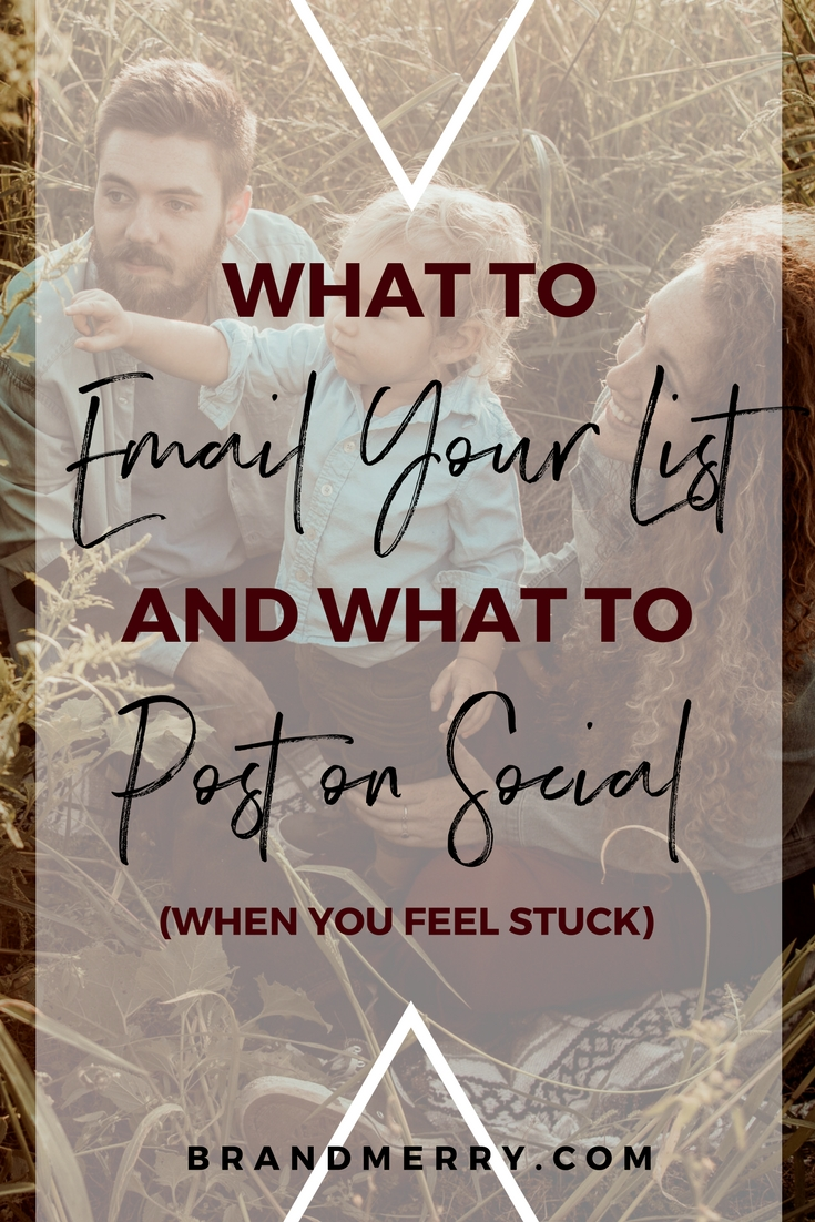 What to do When You Feel Stuck and Don't Know What to Email Your List | Content Creation Tips, Email Marketing tips |  Branding  and  business  coach | Michelle Knight of Brandmerry