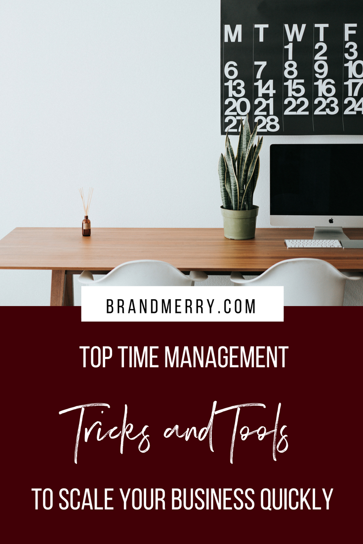 Top Time Management Tricks and Tools to Scale Your Business Quickly | Time Management for Entrepreneurs | How to manage time in your business | Branding and Business Coach Michelle Knight | Brandmerry.com