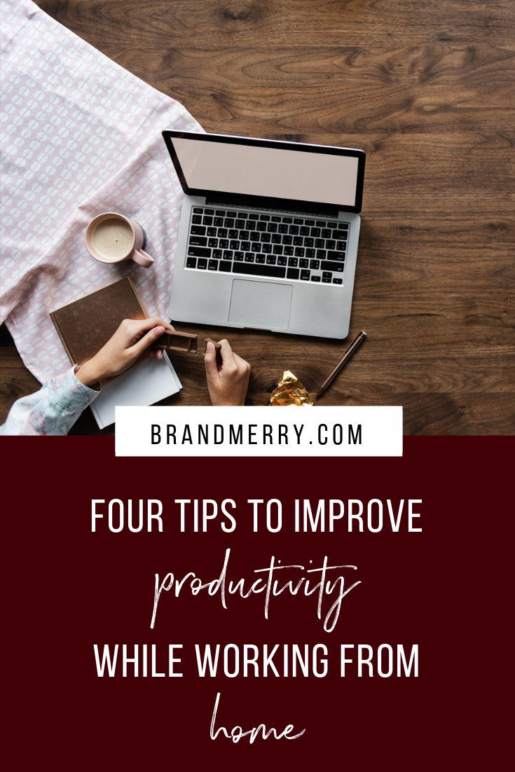 Discover four tips for improving productivity while working from home to create a successful and profitable online business.