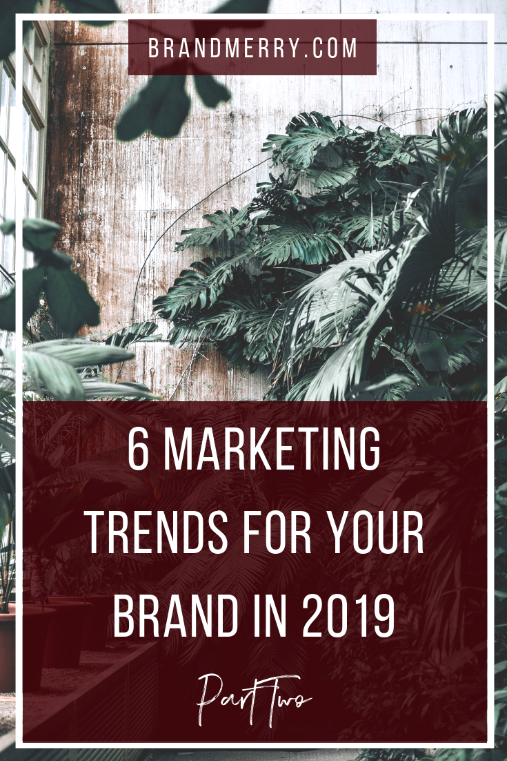 6 Marketing Trends for Your Brand in 2019 {Part Two}. It's an exciting year to be an entrepreneur, educator and course creator and in today's blog we are taking a peak at part one of must-haves for your brand. We're diving into the final 3 of the 6 tips with tangible steps of how you can incorporate it into your business right away.