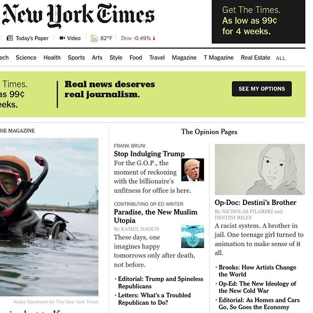 Made it front page of the New York Times!