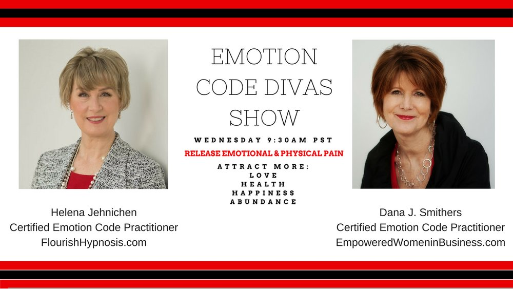 Click here to watch the Emotion Code Divas Facebook Live Show every Wednesday at 9:30 am PST