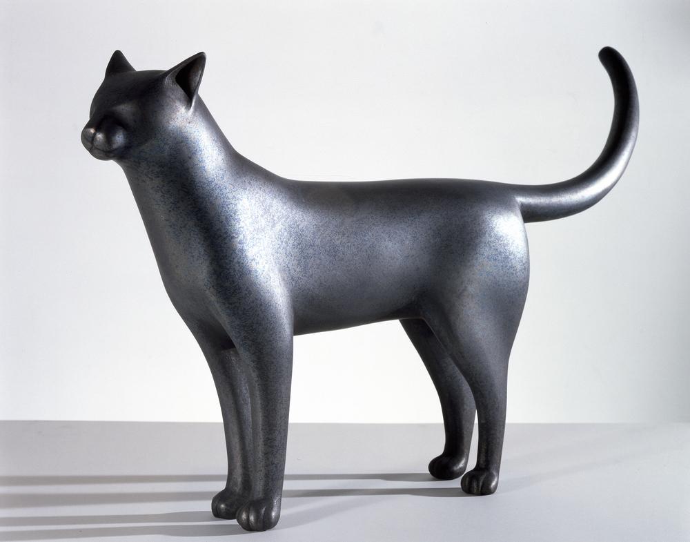 Bronze Standing Cat