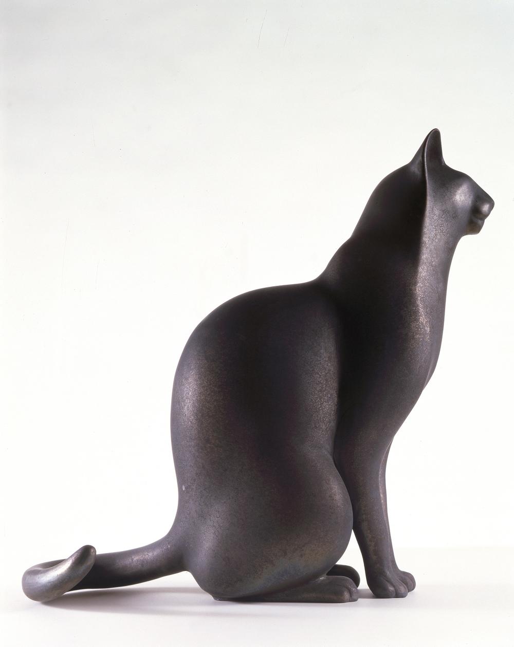 Bronze Sitting Cat