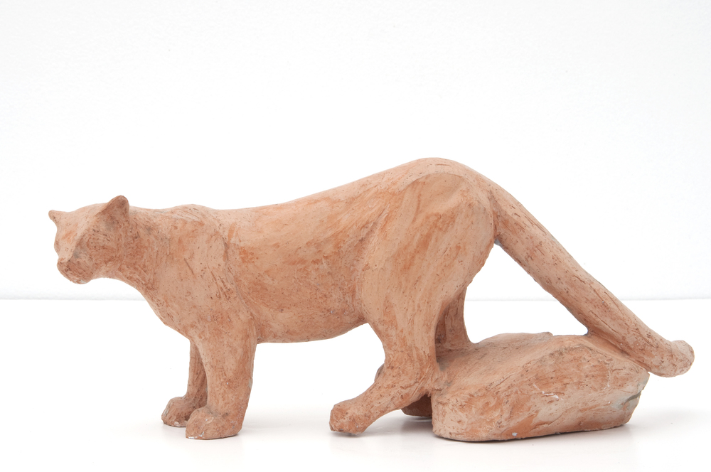 Little Standing Cougar Maquette