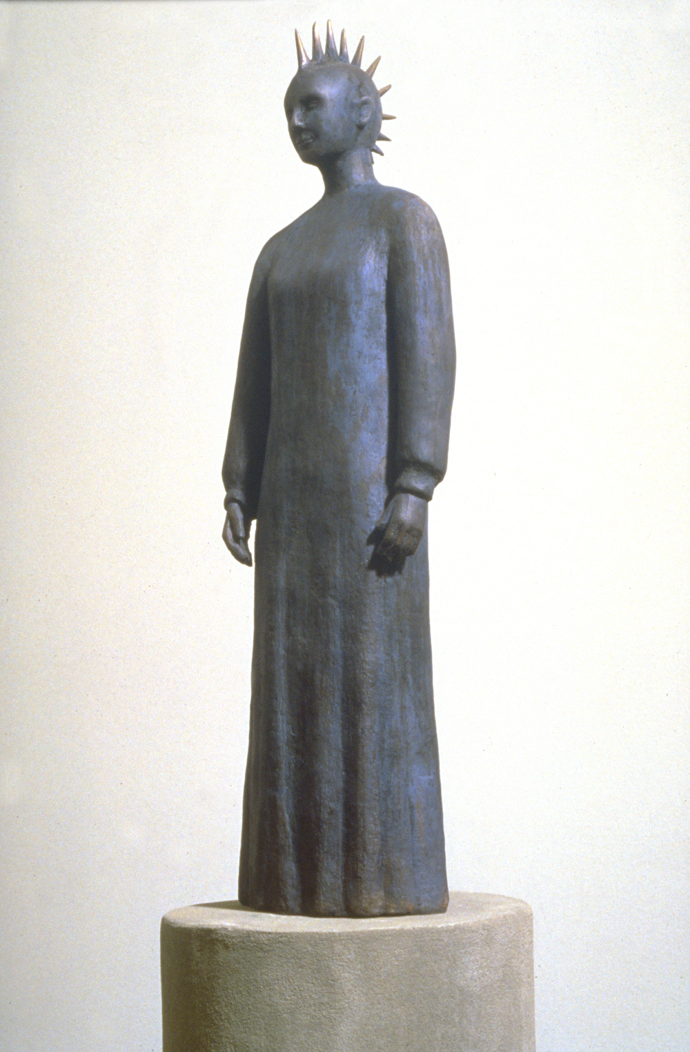 Haniwa Standing Figure (Punk Hair)