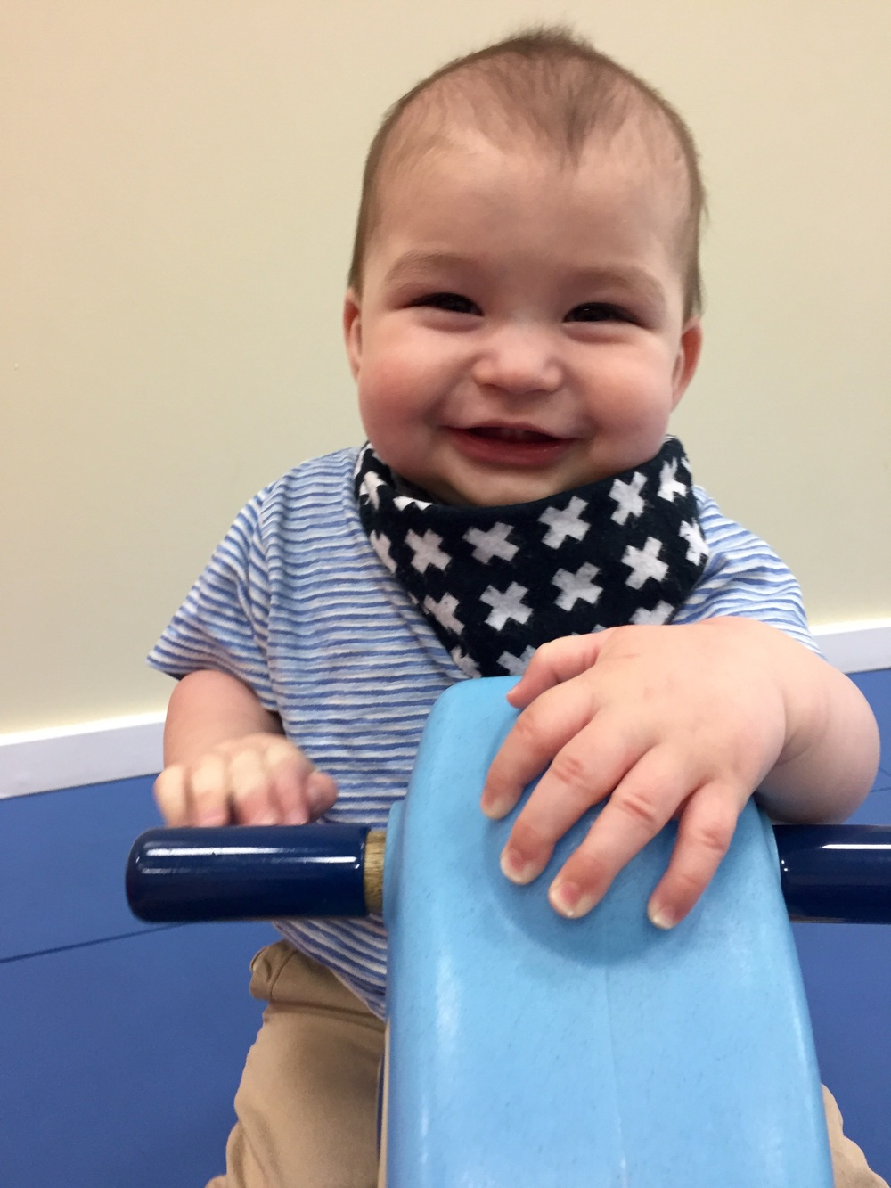 At Gymboree! Love his smile!