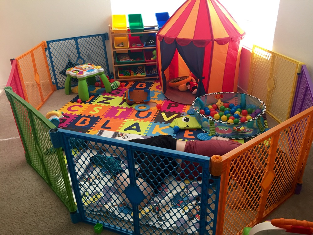 #Dadwin Napping in his play area lol