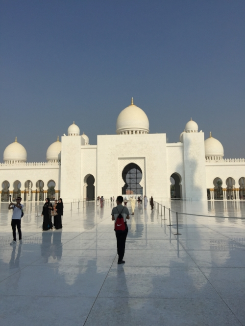 The Sheikh Zayed Grand Mosque in Abu Dhabi