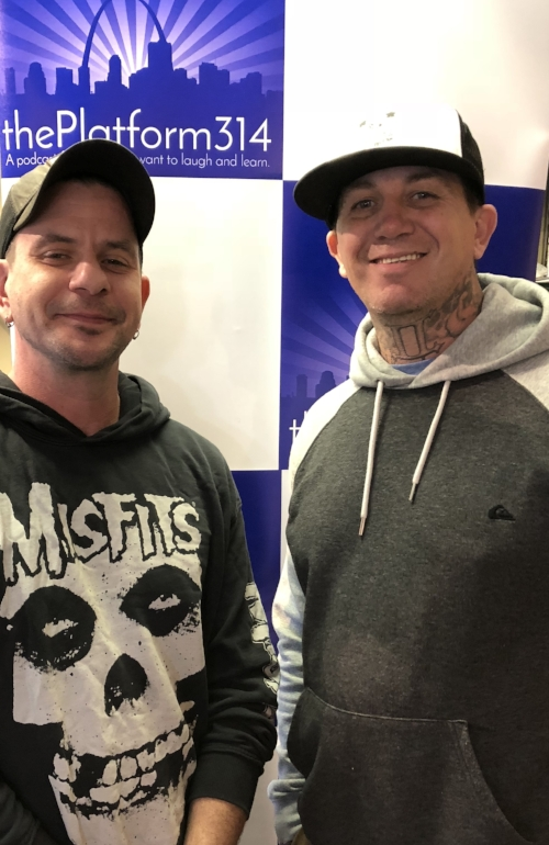 From L to R: Chad Sabora and Robert Riley II of Missouri Network for Opiate Reform and Recovery