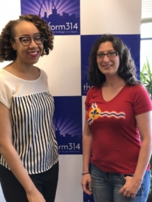 (L to R) Dr. Raegan Johnson and Alderwoman Megan-Ellyia Green