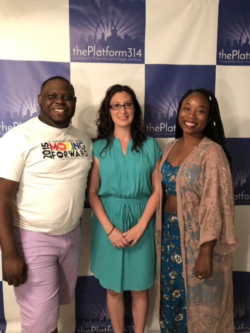 From L to R: Randy Rafter, Host Alderwoman Megan-Ellyia Green, Lady Ashely Gregory