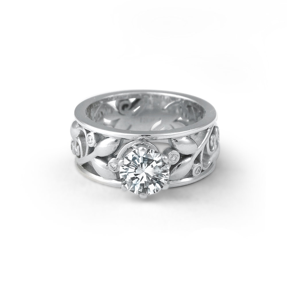 Wide Leaf and Vine Engagement Ring.jpg