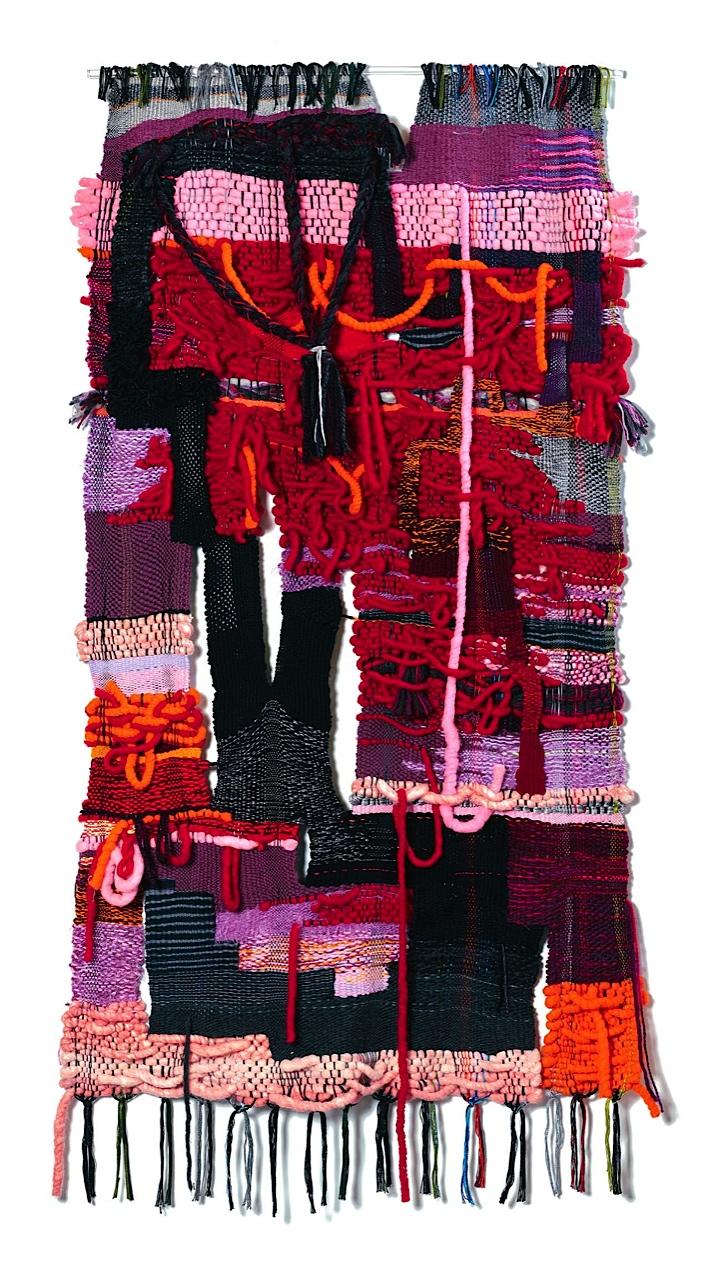 "2016, 65"" x 36"", acrylic, wool, cotton"